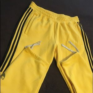 Men's yellow Adidas sweats size large
